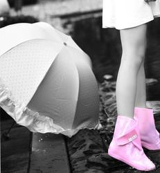 High-end Foldable rain shoe covers short boots for flats and winter shoes waterproof shoes covers