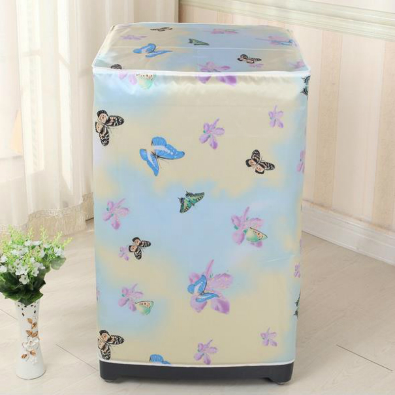 Top Loading Washing Machine PVC Dust Proof Cover Waterproof Case Washing Machine Protective Dust Jacket 56*60*85cm 1PC