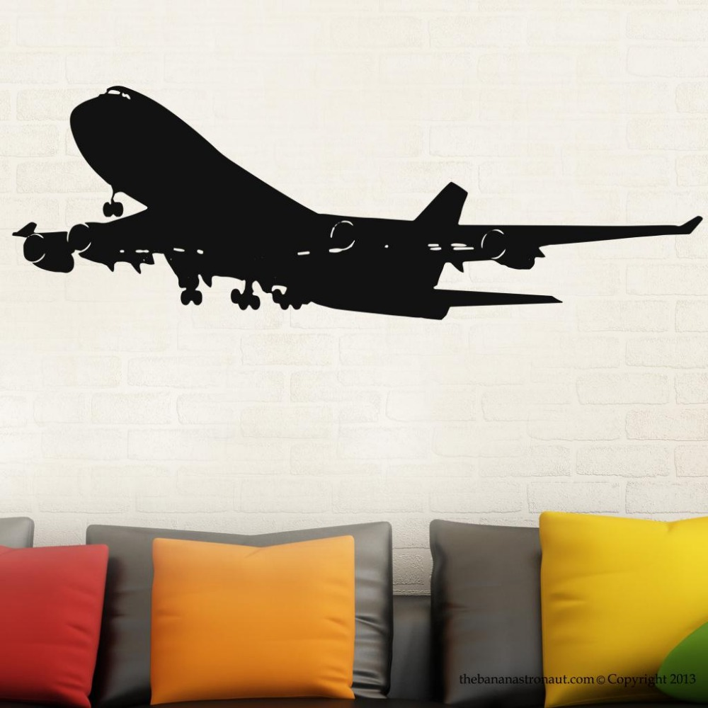 Free Shipping  Airplane Wall Decal Home Decor Stickers PVC Vinyl Removable Sticker GW-43