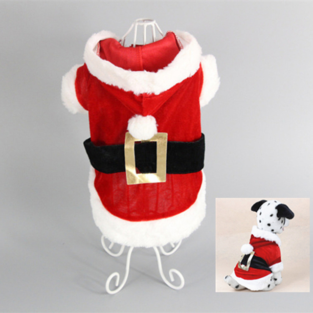 Christmas Dog Clothes for Dogs Chihuahua Winter Dog Christmas Costume Pet Clothes Warm Pet Cat Hoodie Coat Clothing 30A1 1