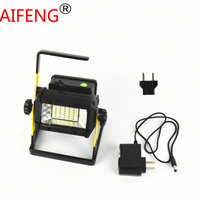 AIFENG POWERFUL Portable Spotlight 2400LM 50W hunting led spot light rechargeable 36LED with charger Alarm light outdoor EU US