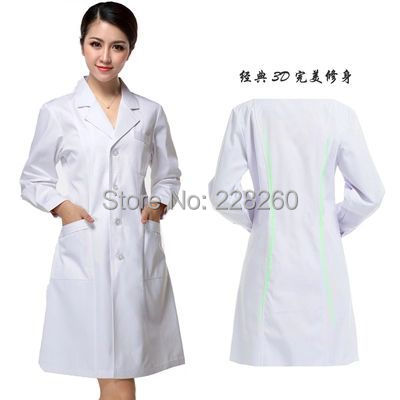 White coat long sleeve female doctor clothing men's short sleeve ...