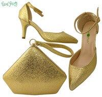 Sıcak satış Afrika Kadınlar Için Çanta Ve Ayakkabı Düğün Topuklu Rhinestones Kaliteli Çanta seti BCH-30 Ile İtalyan Ayakkabı