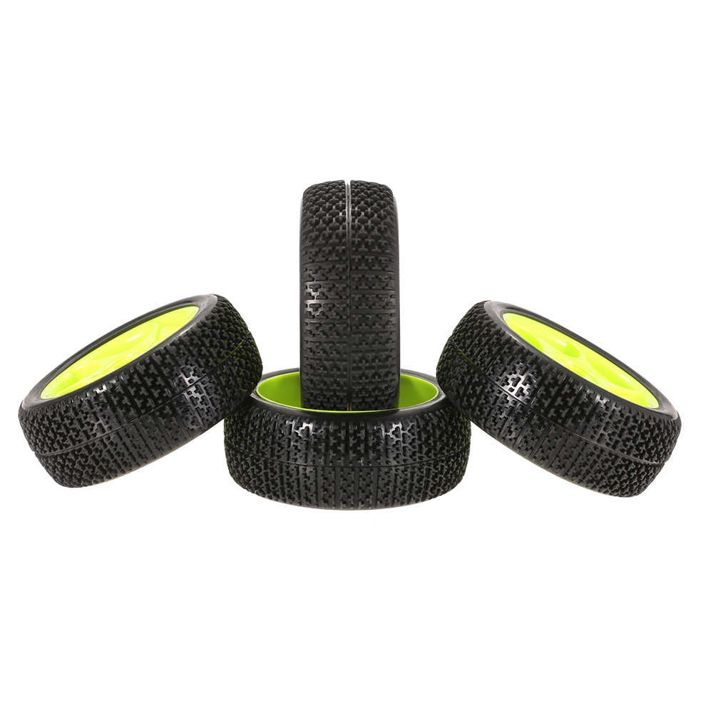 Image 2 - 4pcs High Quality 112mm Rubber Tires 17mm Hub Hex Wheel Rim for 1/8 RC Crawler Buggy Off Road Car Truck RC Toys Kid-in Parts & Accessories from Toys & Hobbies