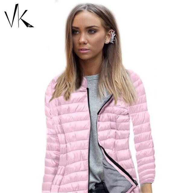 Baratos mulheres-outono-casacos de inverno-casacos parka mulheres jaqueta de inverno ultra-leves mulheres parka rosa azul preto