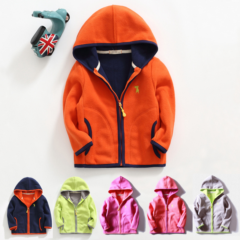 2 14Y kids fleece hooded jacket baby girl boy coat spring autumn jacket for boys girls coats and jackets children 39 s outerwear in Jackets amp Coats from Mother amp Kids