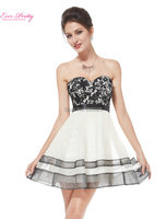 Free Shipping Ever Pretty HE05076BG 2015 New Arrival Fashion Strapless Women S Short White Cocktail Dress