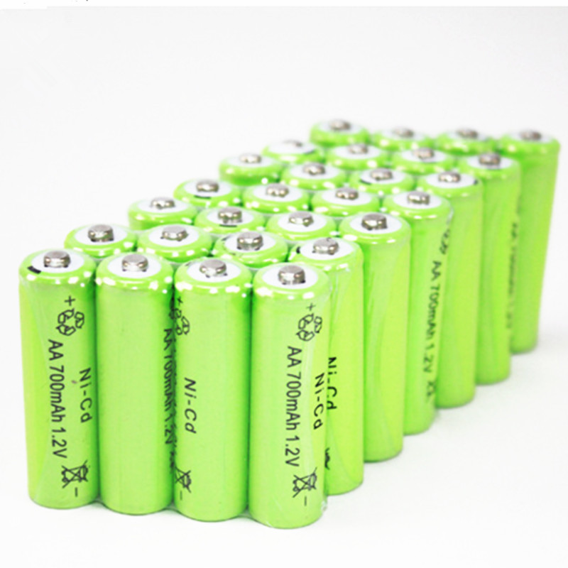 20pcs Lot Ni Cd Aa 1 2v 700mah Rechargeable Battery For