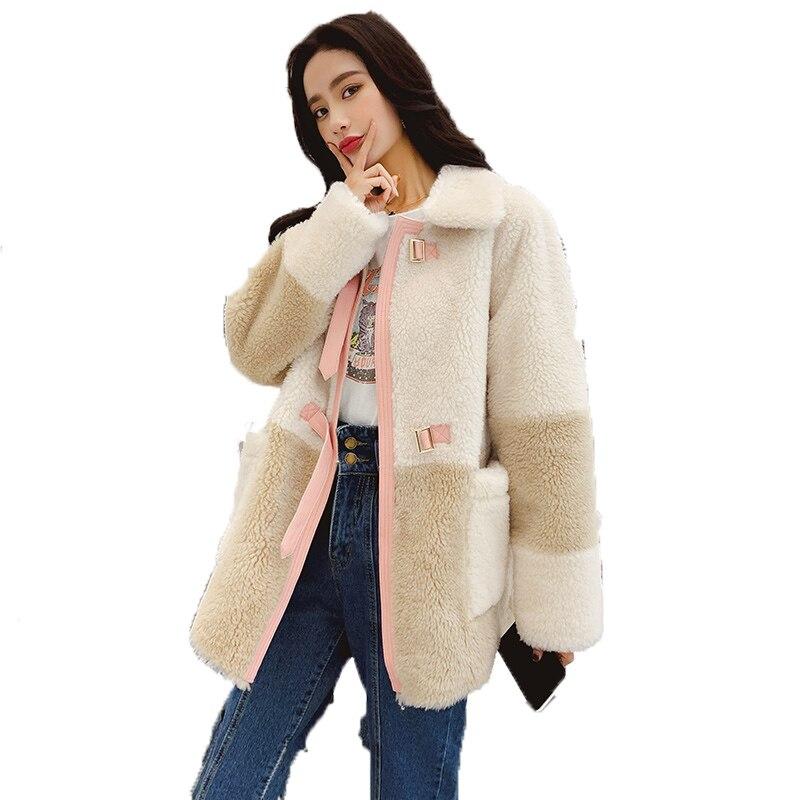 Gamuza Lana Mujer Abrigo Chaqueta Otoño Ropa Forro Oveja Zt1652 vwvqZAWpr
