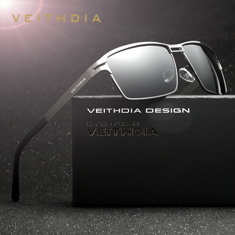 VEITHDIA Μάρκα Ανοξείδωτο Ατσάλι Γυαλιά ηλίου Ανδρικά Πολωμένο Oculos masculino Άντρας Γυαλιά Αξεσουάρ Γυαλιά Ηλίου για Άνδρες 2711