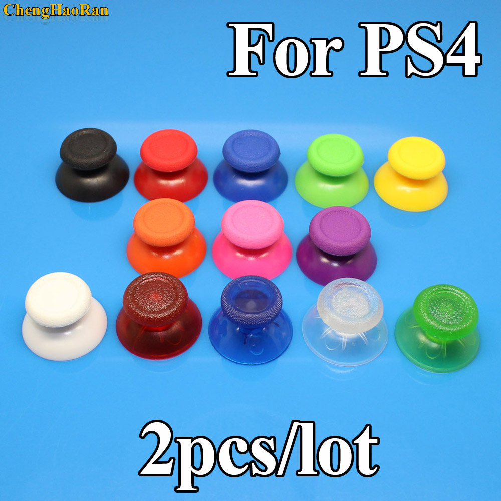 2pcs Mushroom Controller Stick Grips Analog Replacement Plastic 3D Buttons Joystick Cover Caps For Playstation 4 PS4 Controller