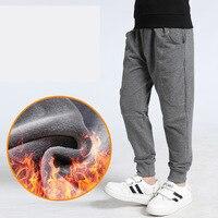 Зимние для мальчиков-подростков теплые толстые штаны хлопок карманов детские спортивные с флисовой подкладкой брюки для мальчиков осень 6 8 10 для детей 12 лет детская одежда