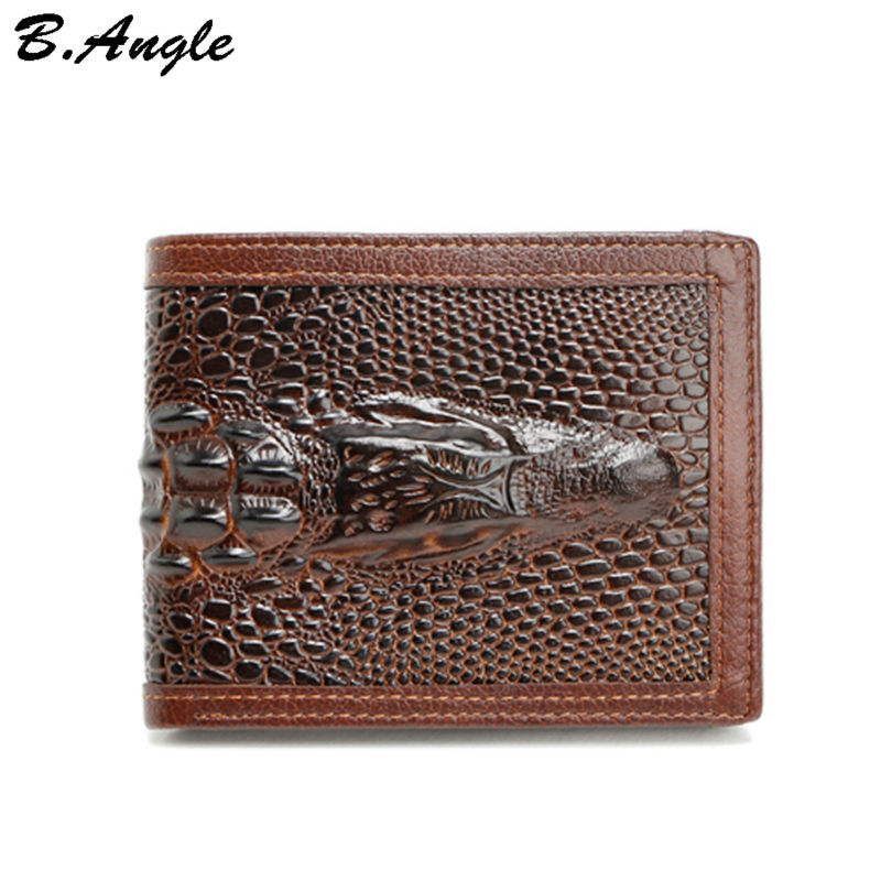 High-quality-genuine-leather-3D-Alligator-men-wallets-fashion-vintage-wallets-purses-designer-wallets-famous-brand