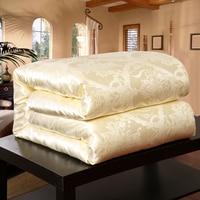 SMAVIA Hot Sale 100% Mulberry Silk Comforter Chinese Silk Fiber Quilt 100% Cotton Satin Jacquard Fabric Blankets Accept Custom
