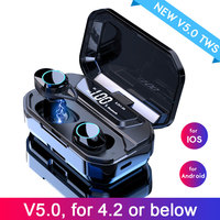 G02 TWS 5.0 Bluetooth Earphones 9D Stereo Wireless Earphone For redmi note 7 IPX6 Waterproof Headset 3300mAh LED Power Display