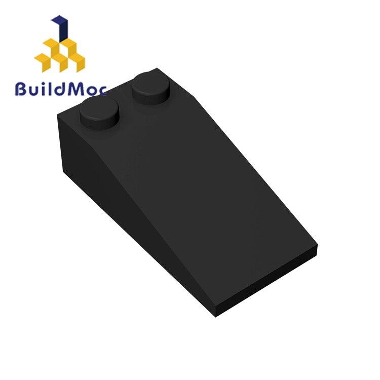 BuildMOC 30363 Slope 18 4 X 2 For Building Blocks Parts DIY LOGO Educational Tech Parts Toys