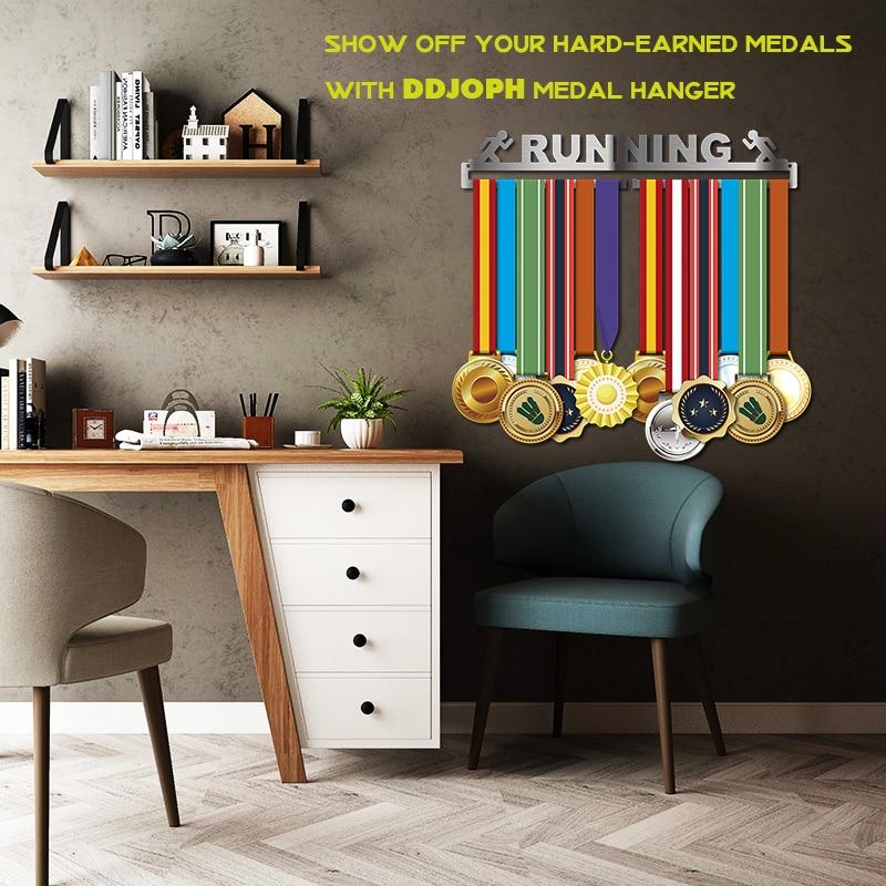 Race medal hanger Running medal holder Sport medal hanger display hold 10~16 medals-in Pins & Badges from Home & Garden