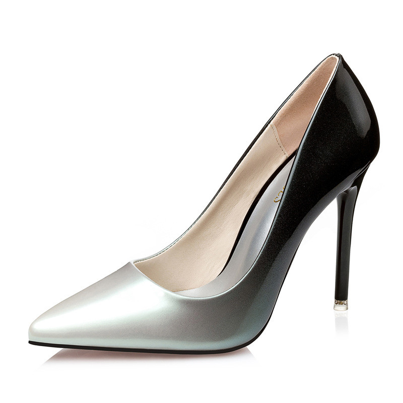 2019 spring and autumn new fine ol professional gradient paint leather fashion womens shoes silver ljj 05102019 spring and autumn new fine ol professional gradient paint leather fashion womens shoes silver ljj 0510