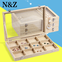 2016 new arrival wrapped jute burlap jewelry box rings case watch box bracelet gift box earring necklace holder bangle organizer
