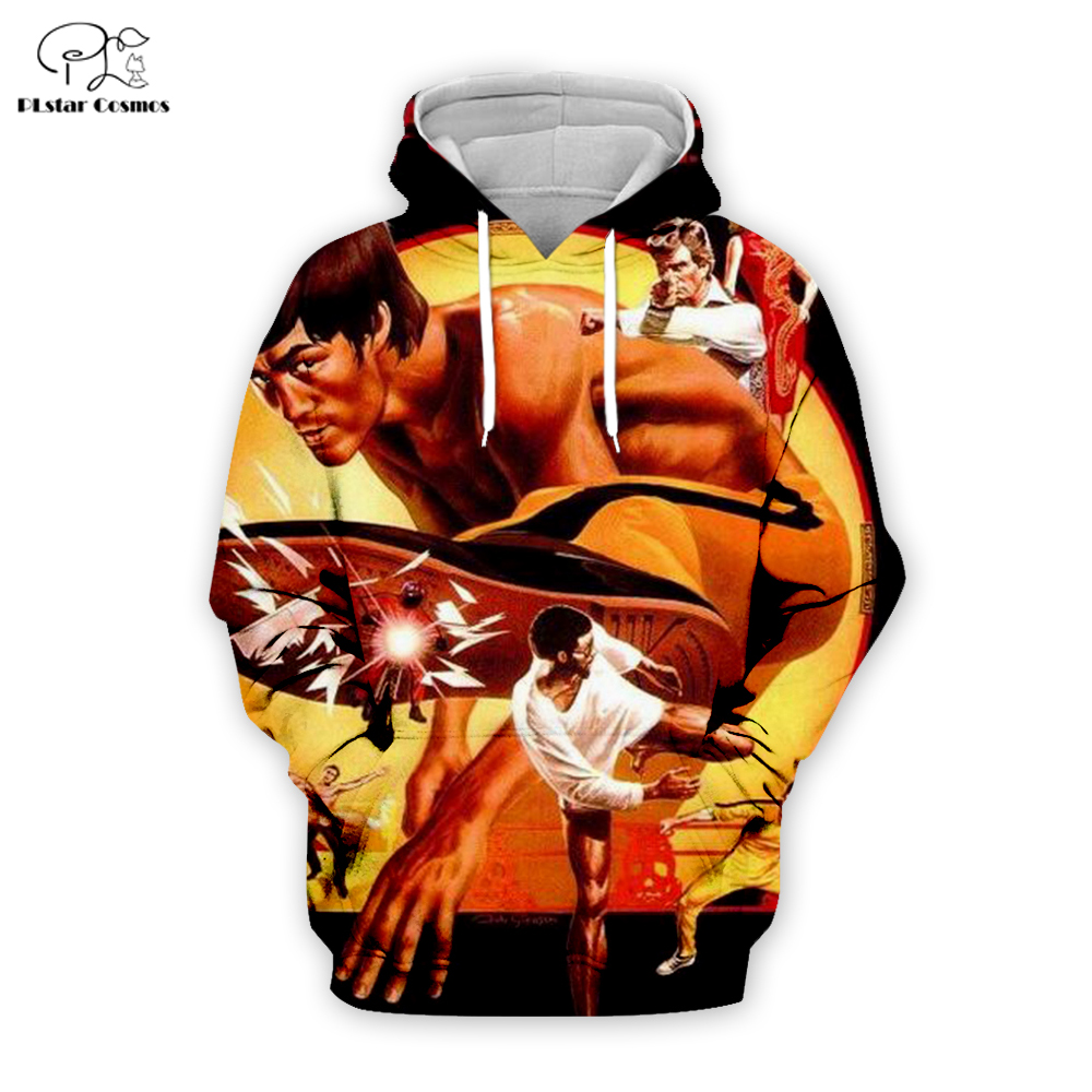 PLstar Cosmos Bruce Lee 3D Printed Hoodie/Sweatshirt/Jacket/shirts Mens for boy Tees hip hop Movie Fans Kun apparel casual tops