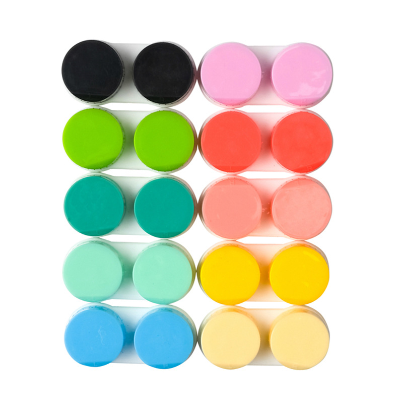 10Pcs Contact Lens L+R Cases Storage Holder Soaking Container Travel Eyewear Accessories Box For Lenses Wholesale Random Color