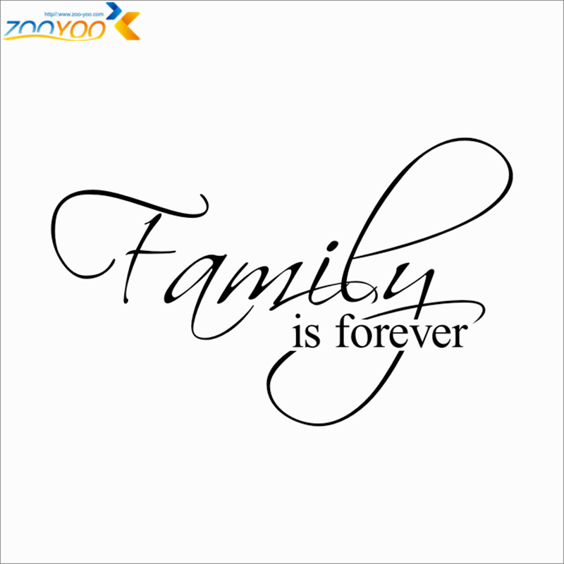 Family Is Forever Quotes Fascinating Family Is Forever Quotes Wall Decals Living Room Home Decorative