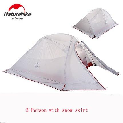 NH de alta calidad para 3 personas, con doble capa, cuatro - Camping y senderismo