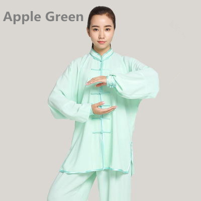 G-LIKE Long Sleeve Martial Art Suits Tai Chi Clothing No Shrink Stage Uniform 12 Pure Color 7 Sizes