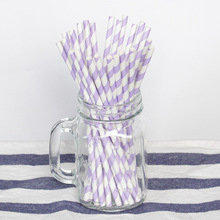 25 шт. фиолетовые и светло-фиолетовые полоски в горошек бумажные соломинки для дня рождения свадебные декоративные вечерние принадлежности для мероприятий соломинки
