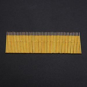 Image 2 - 50pcs Spring Pressure Test Probe Pogo Pins P75 B1 Needle Tube Dia 1.02mm Gold Thimble for Conductive Test Tools