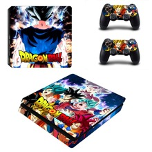 Dragon Ball Z Super Son Goku PS4 Slim Skin Sticker For Sony PlayStation 4 Console and 2 Controllers PS4 Slim Skin Sticker Decal
