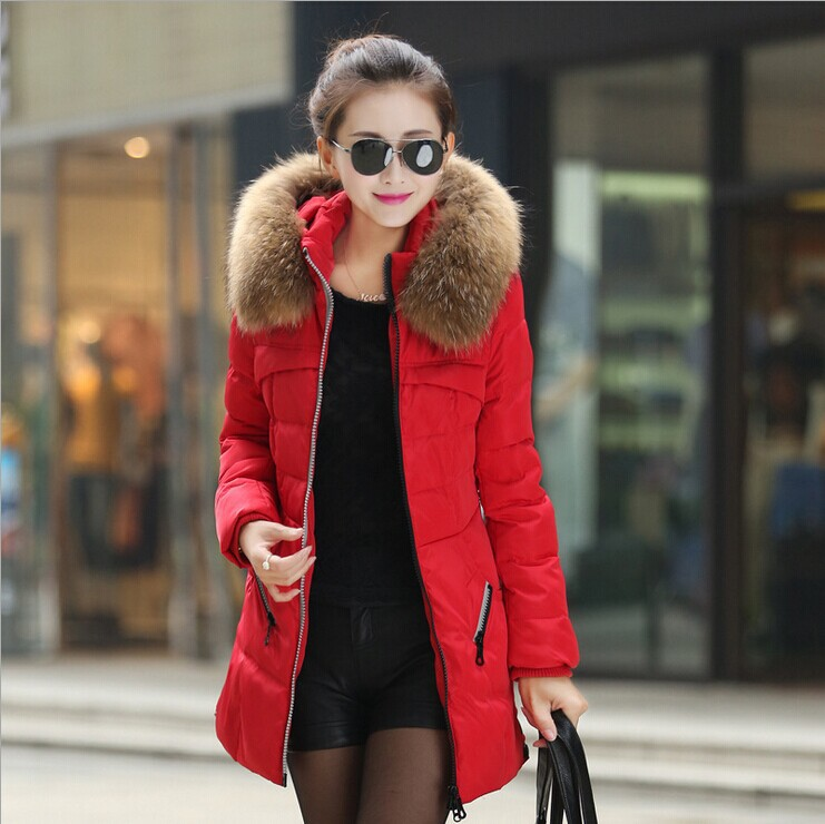 ФОТО New 2015 women winter coat long section loose plus size thick hooded down jacket women down coat S-3XL LW60910
