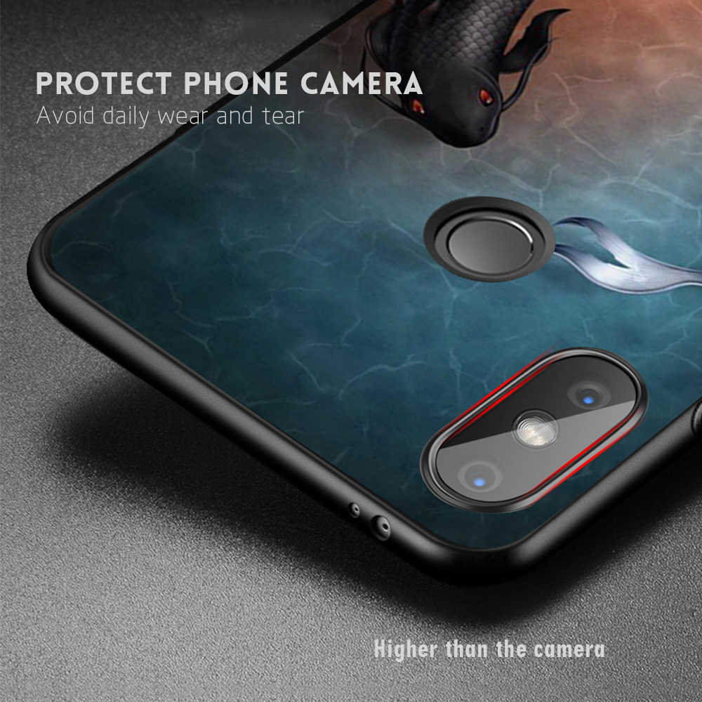 Étui de protection souple en TPU pour Xiao mi Pocophone F1 mi A1 A2 mi 8 SE boîtier de téléphone en Silicone rouge mi 6A Note 5 6 Pro 4X