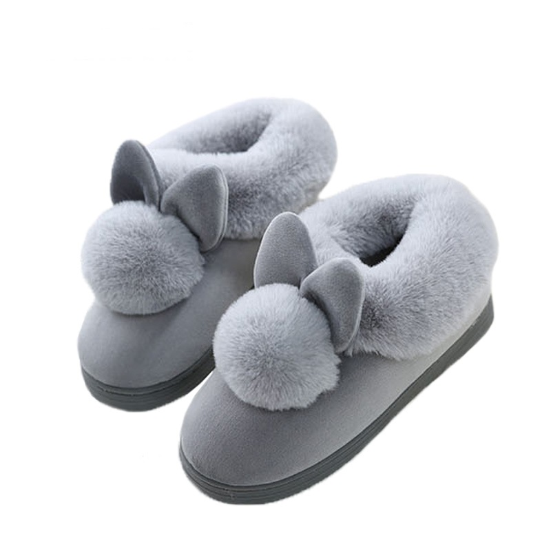 Femme Slippers Home Style Lovely Rabbit Ears Soft Home Mujer Slippers Cotton Warm Winter Women Slippers Casual Indoor Slippers