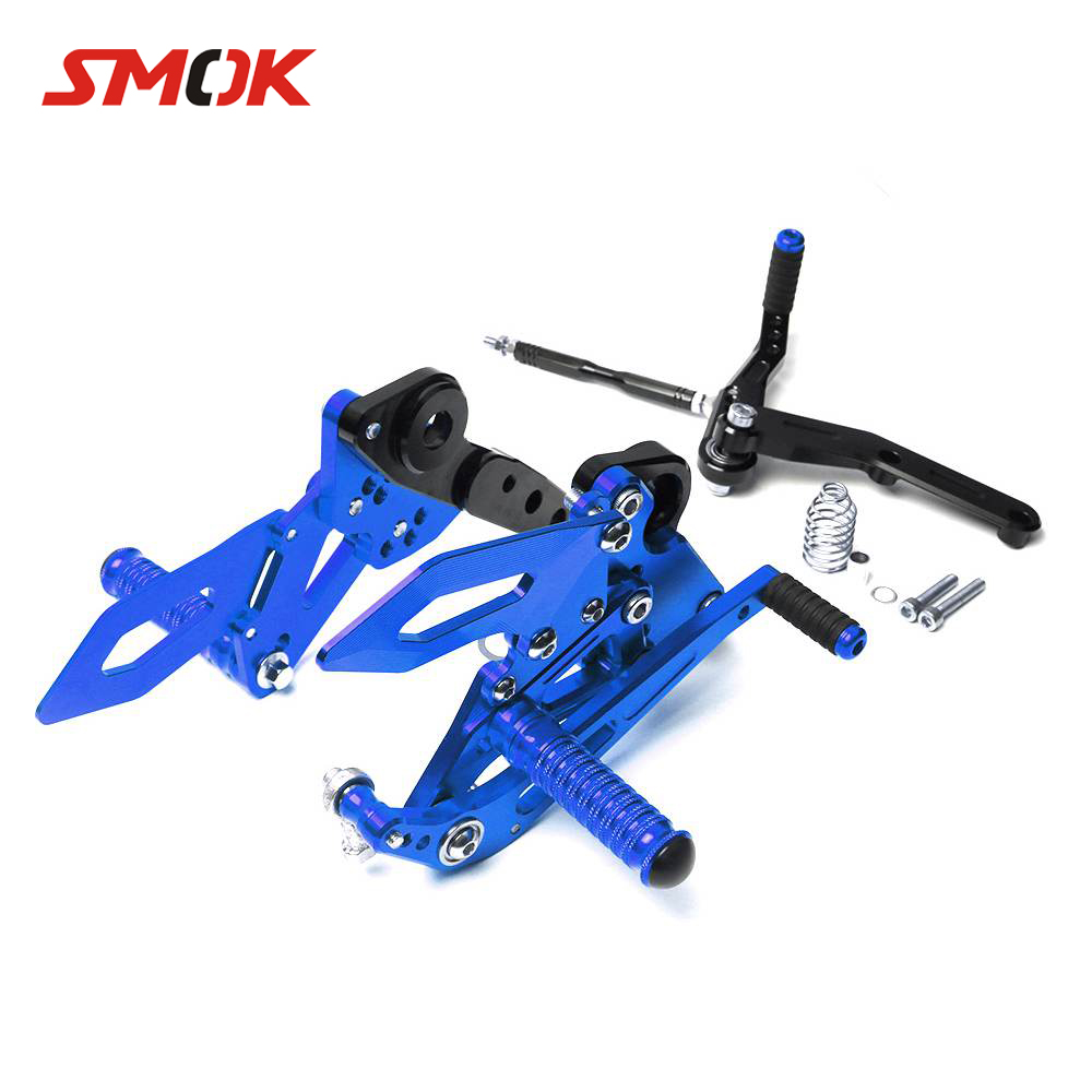 SMOK For Yamaha MT 09 MT 09 MT09 FZ 09 2014 2017 Motorcycle CNC Aluminum Adjustable Rear Sets Rearset Footrest Foot Rest Pegs