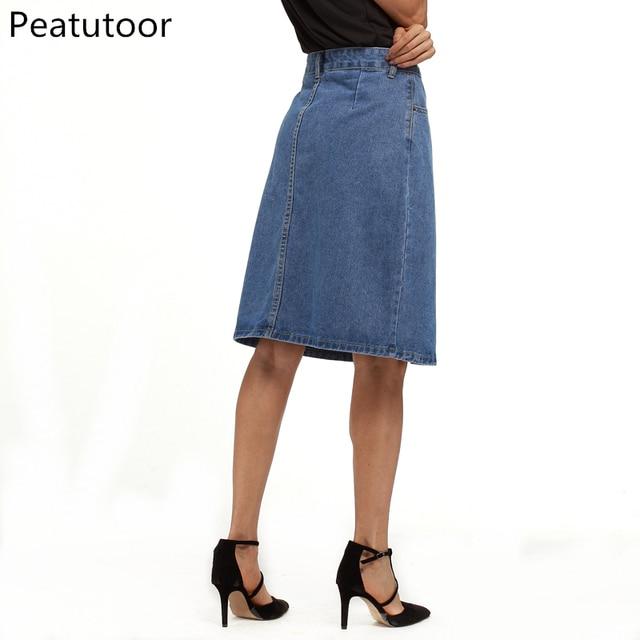 ae6111a4354dc1 2018 nouvelles femmes d'été Denim jupes mode taille haute grande Mini Jeans  jupe qualité bleu Sexy fonds