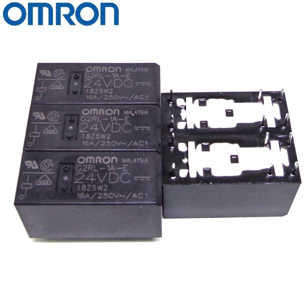 16 A M3851 2 Stück OMRON G2RL-1A-E DC5 Leistungsrelais 5 VDC