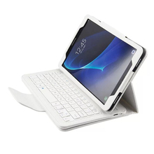 Wireless Bluetooth Keyboard PU Leather Cover Protective Smart Case For Samsung Galaxy Tab A 10.1 2016 T580 T585 T580N T585N+Gift