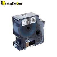 Greateam 18484 Dymo Rhino Permanent Polyester Label Tape Compatible for Dymo Rhino 5000 Label Maker, Black on White 19mm