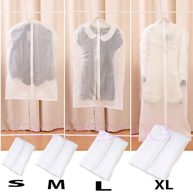 S/M/L/XL Coat Clothes Garment Suit Protector Cover Bags Dustproof Hanger Storage