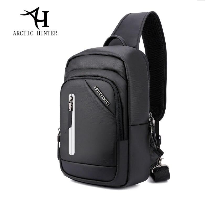 ARCTIC HUNTER Famous Brand Crossbody Bags for Men Messenger Chest Bag USB Fashion belt Bag Waterproof Male Shoulder Strap Bag