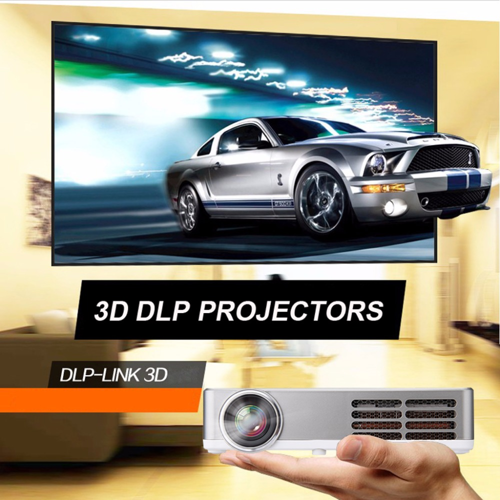 Excelvan LED9 Portable WiFi Mini Projector Android4.4 LED DLP Projector With  (