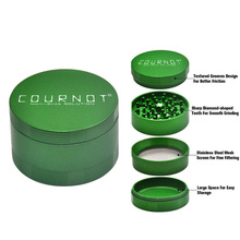 Aluminum Alloy  Grinder Non-Stick Herb 63MM 4 Layers Metal Sharp Diamond Teeth Tobacco Crusher