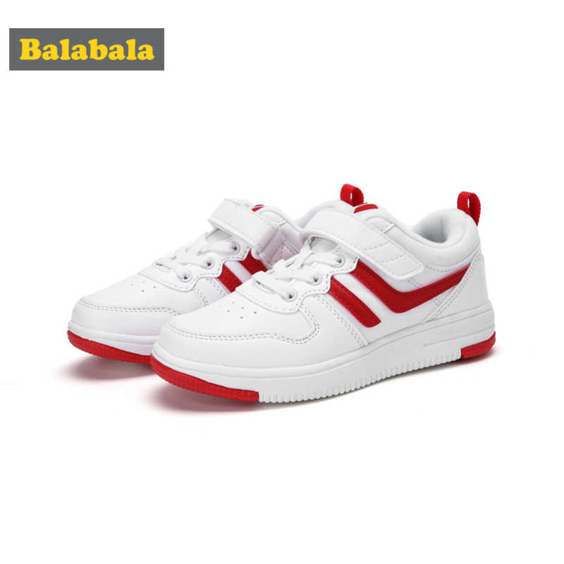 Balabala Fleece-Lined Lace-up Sneakers with Loop Fastener for Boys Girls Toddlers Kids Casual Sneakers Padded Insole Tab at Heel