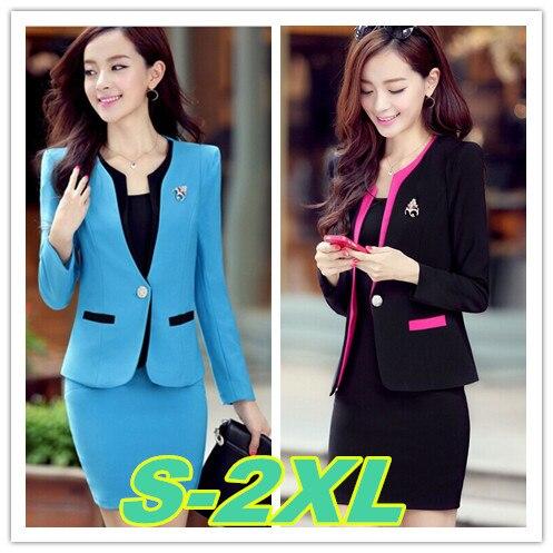 S-2XL size office wear suits women 2014 new slim plus work uniform skirt suit - 5A Online Store store
