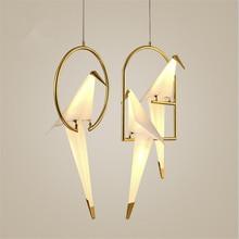 Lámpara LED nórdica postmoderna con personalidad creativa Birdie para dormitorio, mesita de noche, balcón, restaurante, sencilla, envío gratis