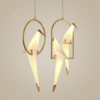 Nordic Postmodern Creative Personality Birdie Bedroom Chandelier Bedside Balcony Restaurant Simple Crane LED Lamp Free Shipping
