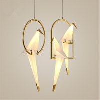 Nordic Postmodern Creative Personality Birdie Bedroom Chandelier Bedside Balcony Restaurant Simple Crane LED Lamp Free Shipping