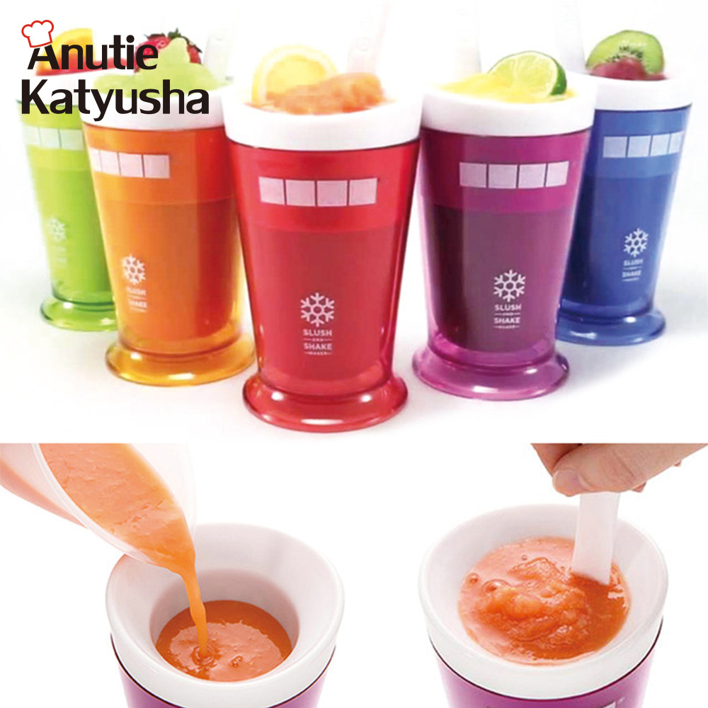 Reusable Milkshake Smoothie Slush Shake Maker Cup Ice Cream Mold Freeze Popsicle Maker Cups With Ice Cream Spoon Ice Cream Maker