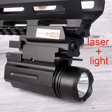 Red Dot Laser Sight Tactical Airsoft Pistool Zaklamp Combo LED Tactical Gun Zaklamp voor 20mm Rail Glock 17 19 18C 24 P226(China)